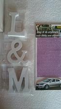 Konečně jsem sehnala - naše iniciály a nalepovací kamínky :-)