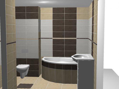 Vizualizácia kúpelky - takto nejako bude na 99 percent vyzerať naša kúpelka, je to Váš štýl???