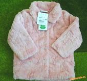 Ružová kožušinková bundička na 1,5 - 2 roky, 86