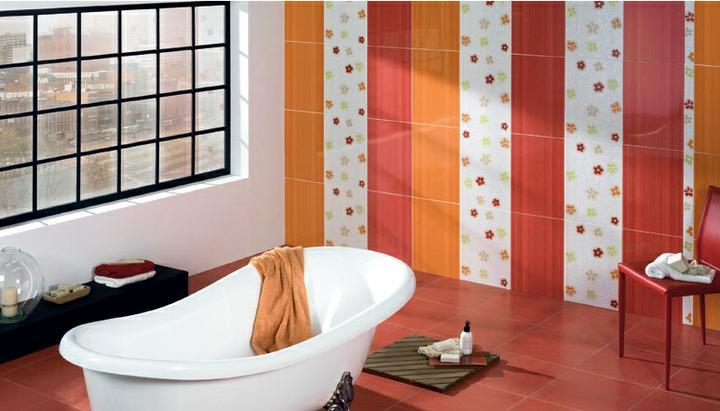 Ako si staviame sen - inšpirácie na kúpelňu - Porcelanite (ES) - seria 343 / oranzova