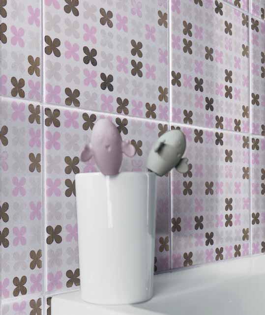 Ako si staviame sen - inšpirácie na kúpelňu - Cerim (IT) - seria Pixel / lilla