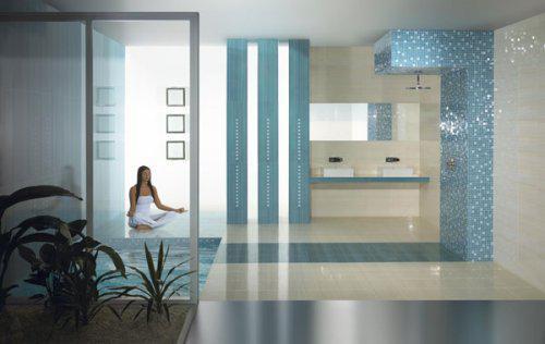 Ako si staviame sen - inšpirácie na kúpelňu - Paradyz (PL) - seria Sensual / Art Blue
