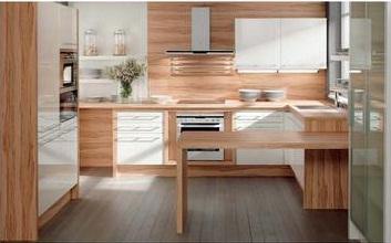 Ako si staviame sen - inšpirácie na kuchyňu - Vysnivana - biely lesk a olivove drevo :)