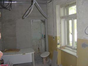 Začali sa búracie práce. Zväčšovali sme WC, upravovali špajzu, kuchyňu sme rozšírili o časť izby, ktorá bola pre slúžku :-).