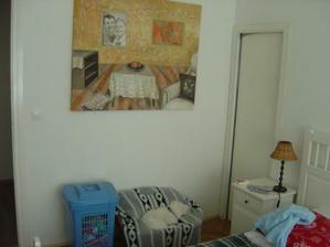 Svadobný obraz, ktorý nám namaľovala kamarátka výtvarníčka. Je to obraz v obraze, na ktorom nás zvečnila :-).