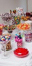 Candy bar taky nesmí chybět