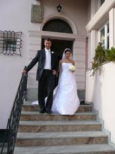 odchod z hostiny na svatebni veselici