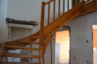 Poslední foto schodů - těsně před demontáží