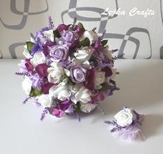 kytička pro nevěstu a korsáž :-) přesně podle mých představ ;-)