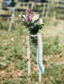 Vázy se stuhami - 10 kusů,