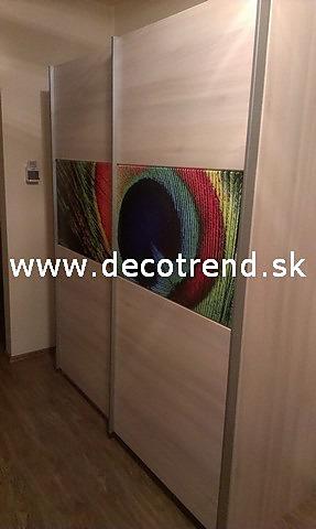 Fototapety na vestavěné skříne, nábytek, dveře - REALIZACE - Fototapeta na skříni - 2 díly