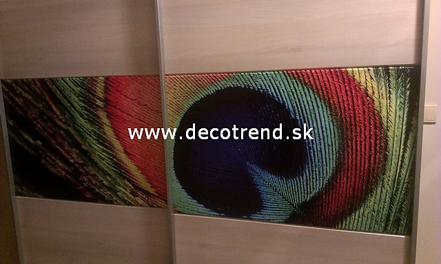 Fototapety na vestavěné skříne, nábytek, dveře - REALIZACE - Fototapeta Paví oko