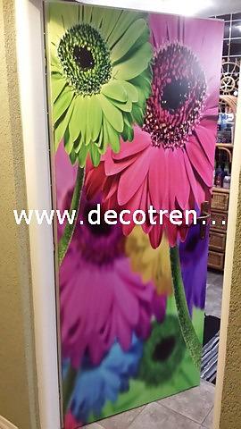 Fototapety - realizace zakázek - Samolepíci tapeta na miru na dveře