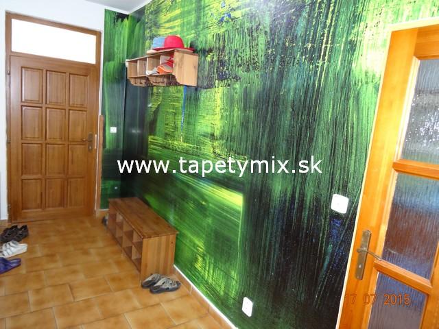 Fototapety - realizace zakázek - Abstraktní vinylová tapeta na zdi v předsíni