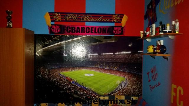 Fototapety - realizace zakázek - Nou Camp FC Barcelona - fototapeta na míru v dětském pokoji