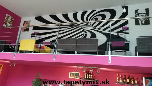 Fototapety - realizace zakázek - 3d tapeta na zeď v kavárne