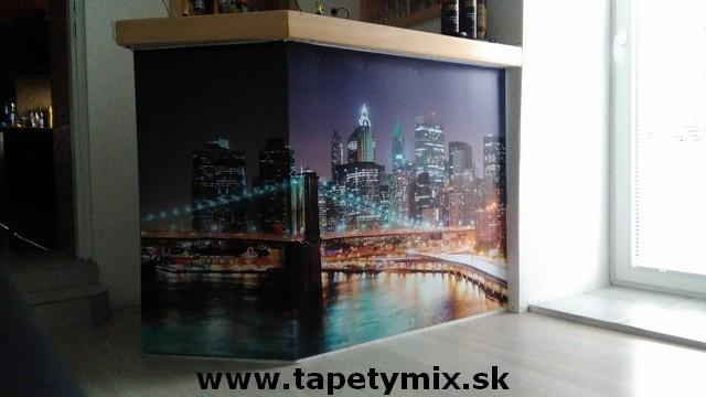 Fototapety do kuchyně - na kuchyňskou linku, na zeď, na skřínky - tapeta na míru Manhattan na barovém pultě