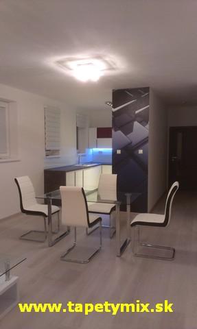 Fototapety - realizace zakázek - Omývatelná 3D tapeta na zdi v jídelne