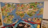 relaizace tapety - dětská mapa světa