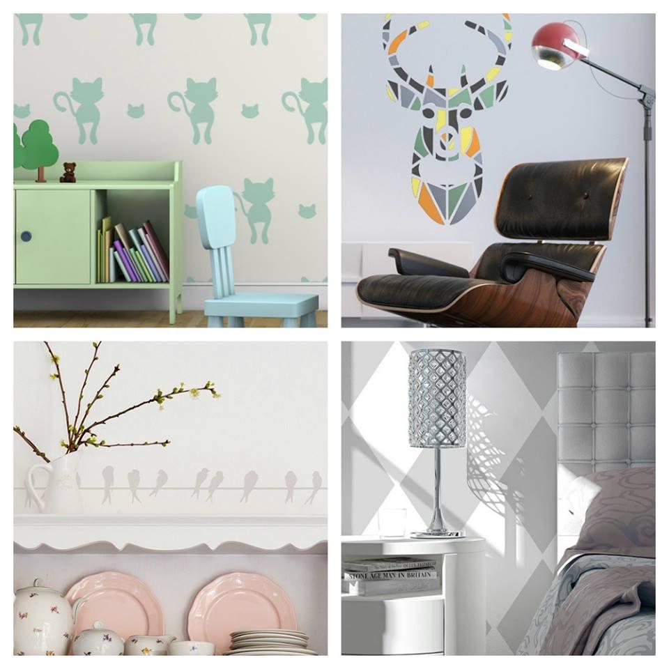 Šablóny na malování stěn i nábytku - Obrázek č. 58