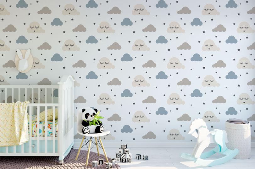 Fototapety do dětského pokoje - https://www.tapetymix.cz/fototapeta/detska-tapeta-oblacky-ft-133487113