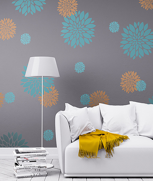 Šablóny na malování stěn i nábytku - Obrázek č. 404