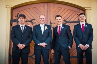 Chlapáci - manžel svědkyně, manžel a moji synáčci :-)