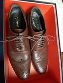 Hnědé kožené boty , 44
