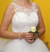 Svadobné šaty - predaj, 40