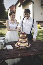 Byla to teda fuška ten dort rozkrojit :D