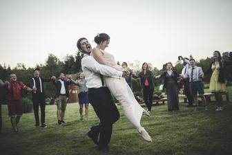Nacvičený novomanželský tanec. Všechny ženy vyděšené (6. měsíc těhotenství :D)..