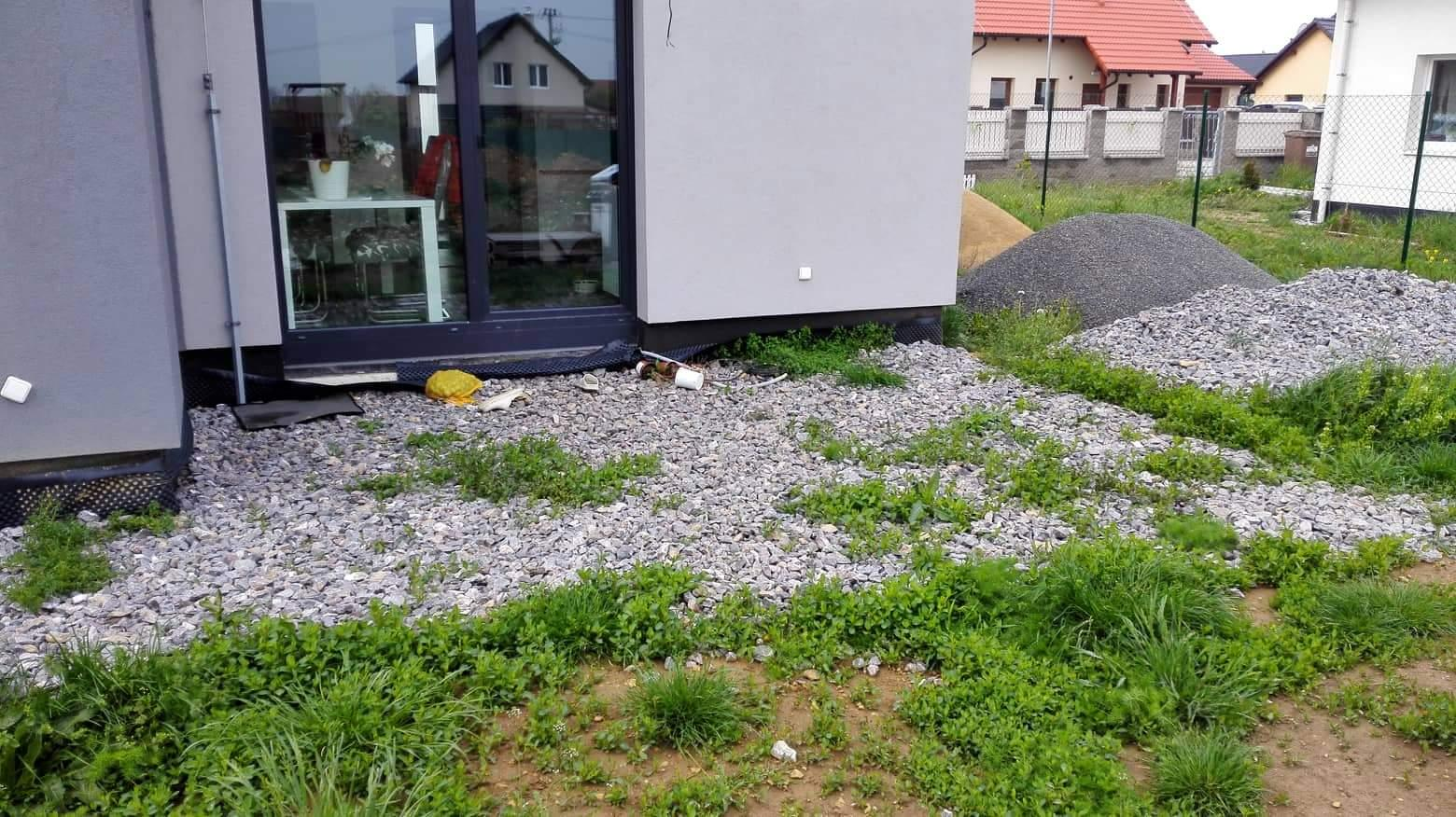Zahrada na klíč - Stav před budováním terasy.