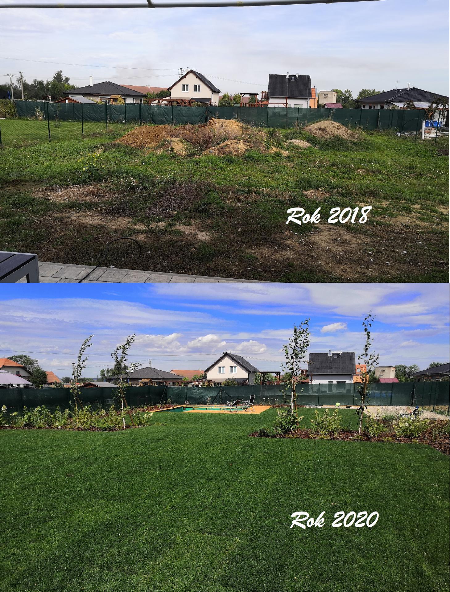 Zahrada na klíč - Malé srovnání PŘED a PO.