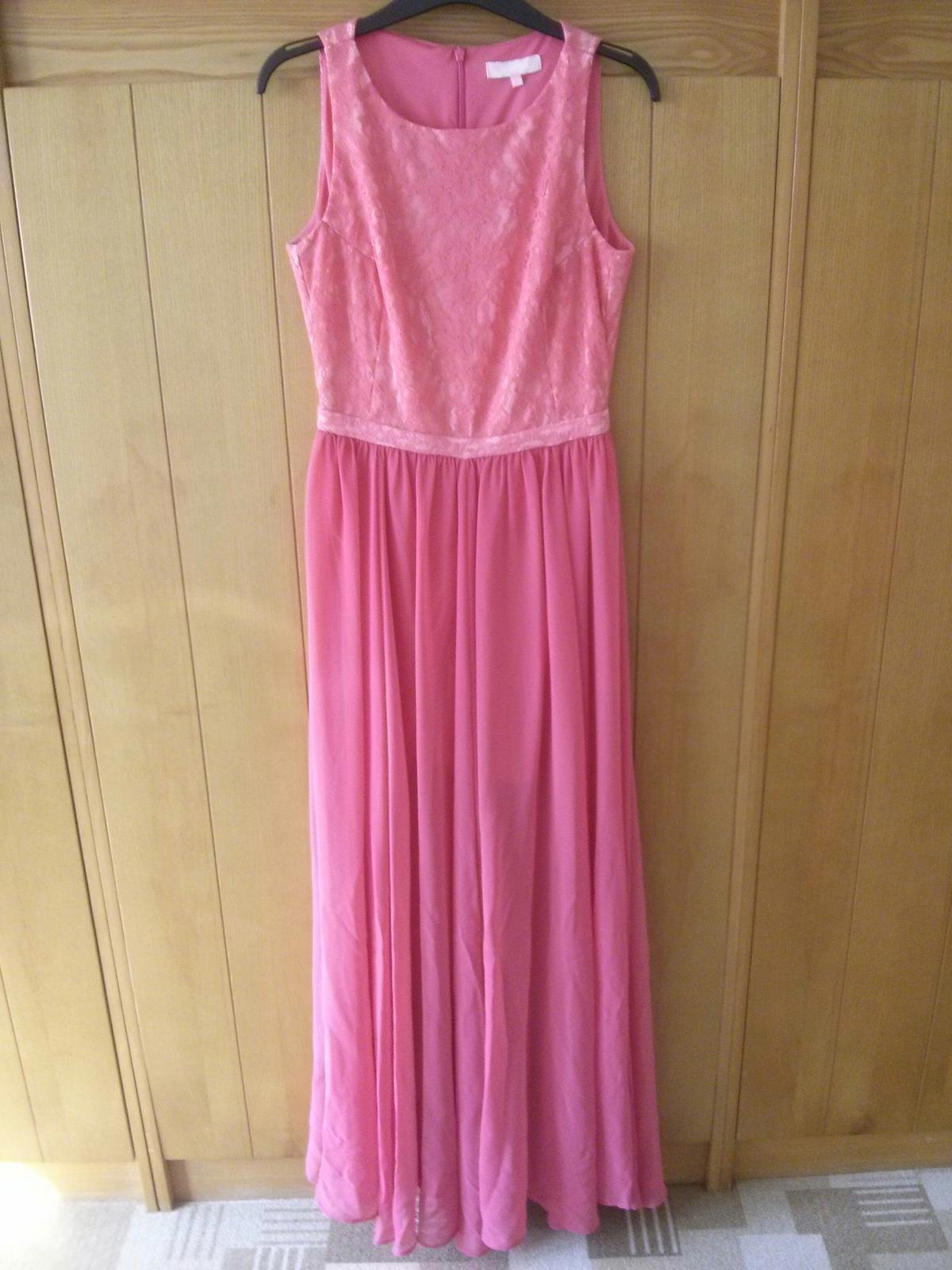 lososové šaty s bohatou sukňou - Obrázok č. 2