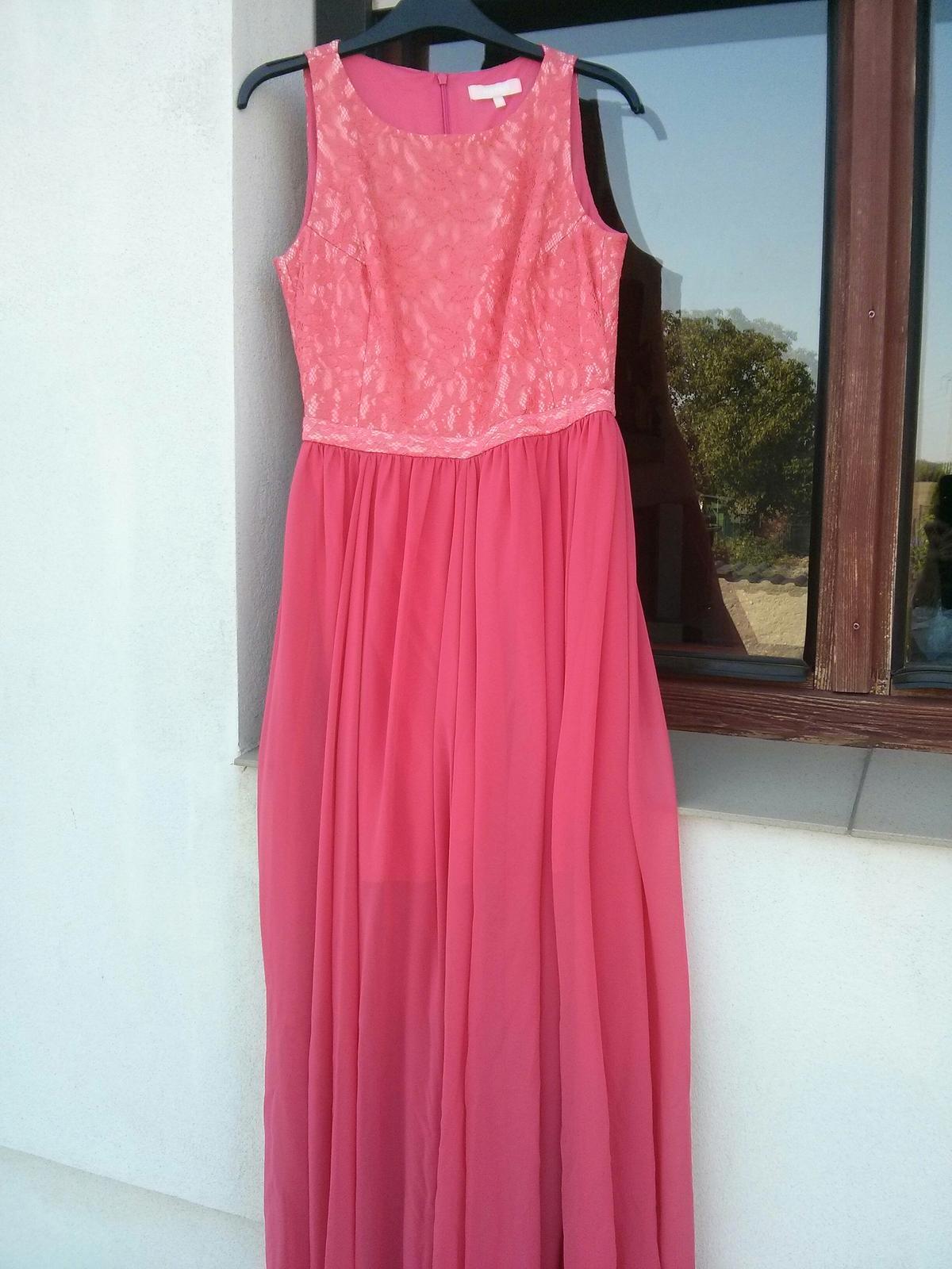 lososové šaty s bohatou sukňou - Obrázok č. 4