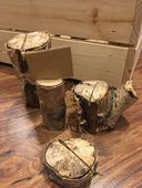 Dřevěné držáky na jmenovky/ na raut,