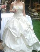 Nabízím smetanové svatební šaty, 34