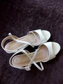 Svatební boty se stříbrným páskem, 37