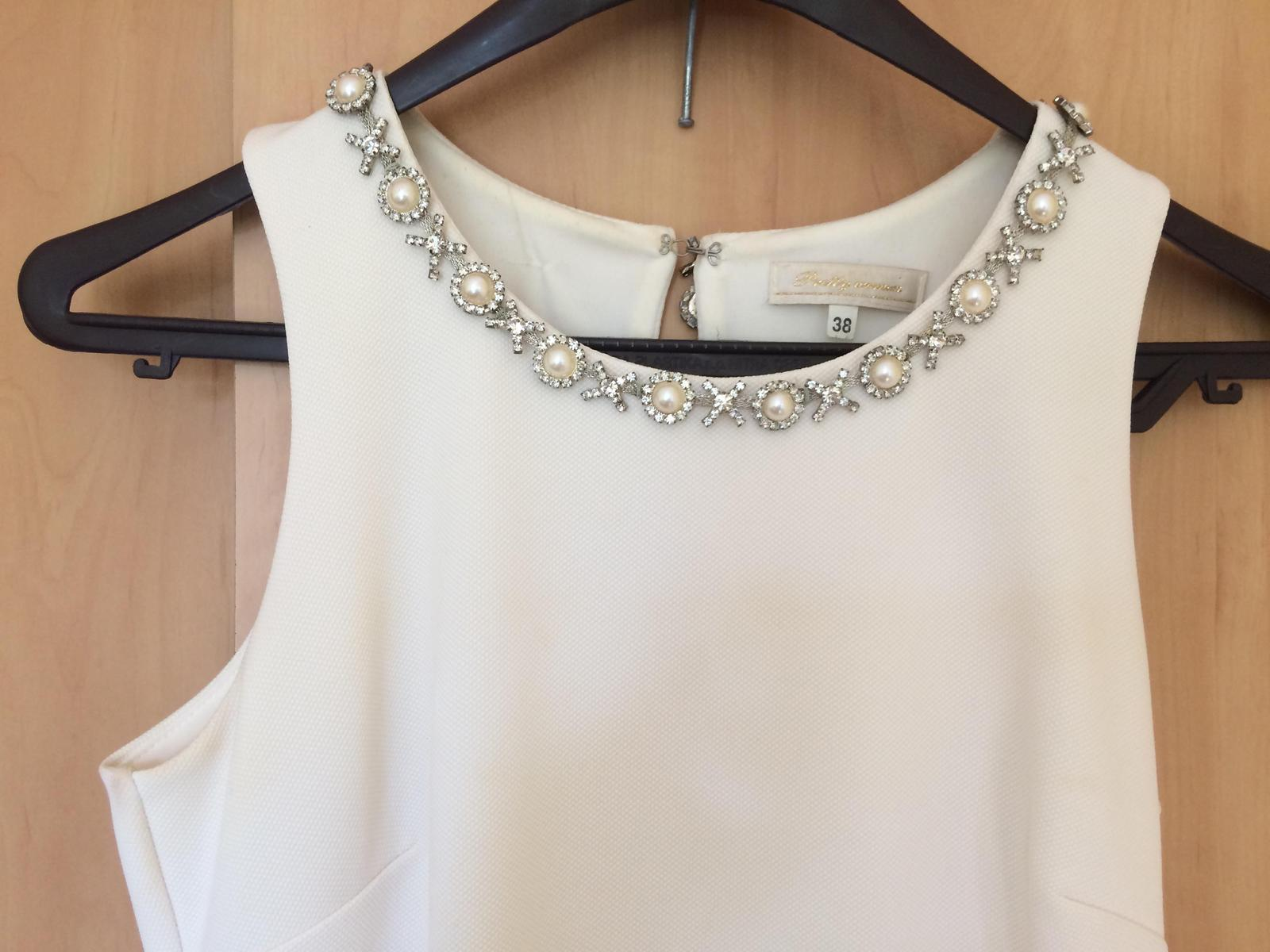 Biele spoločenské šaty - Obrázok č. 2