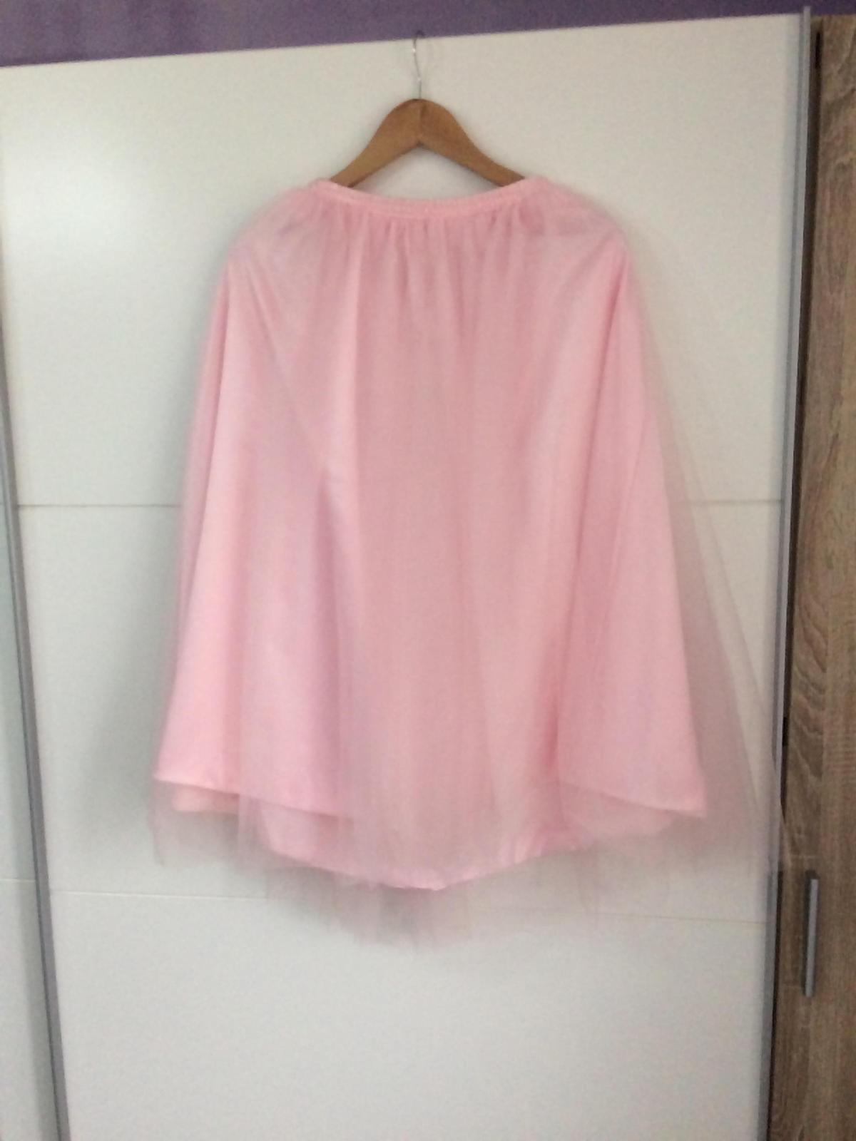 Ružová tutu midi sukňa - Obrázok č. 1