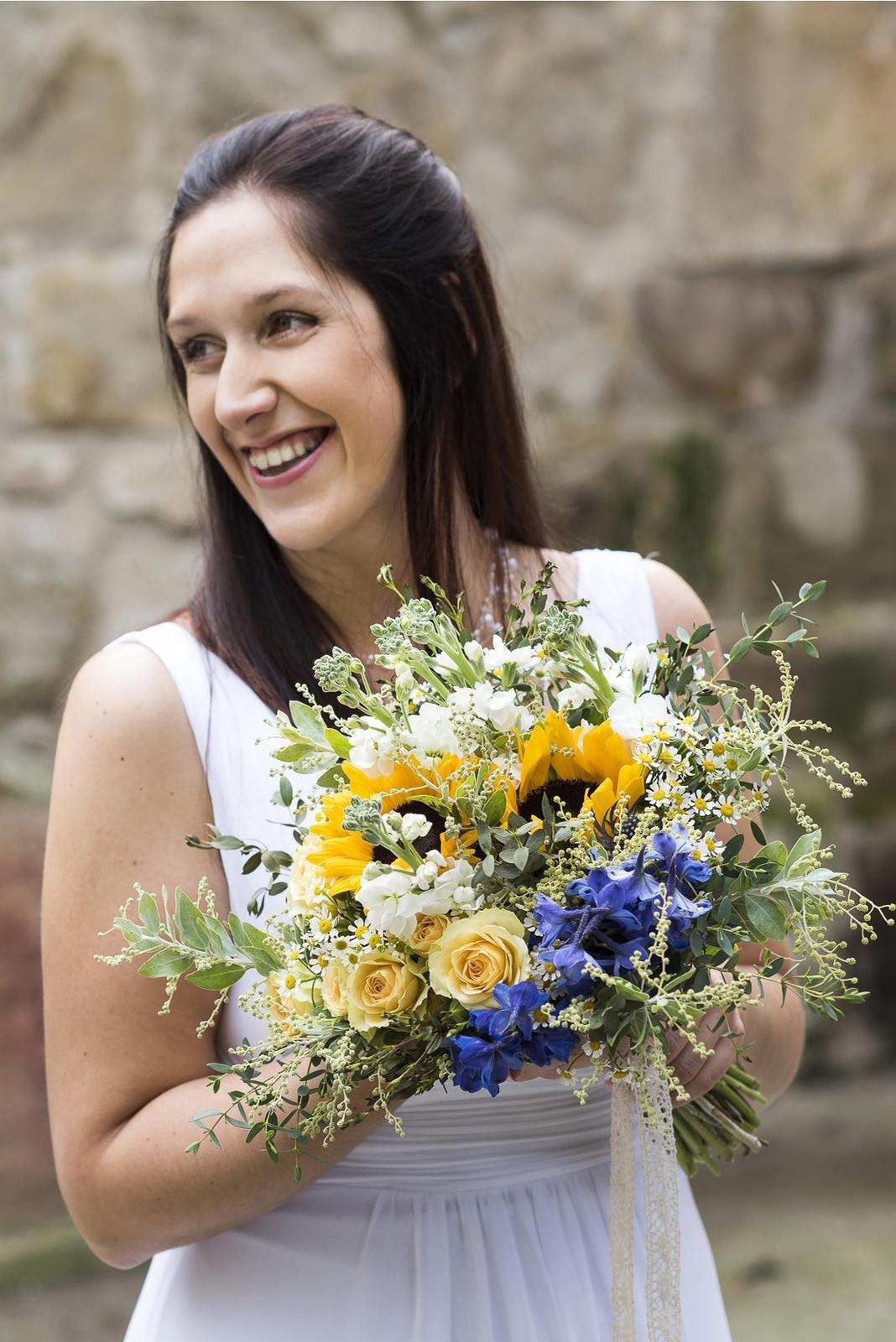 janakatka - letní svatební kytice se slunečnicí