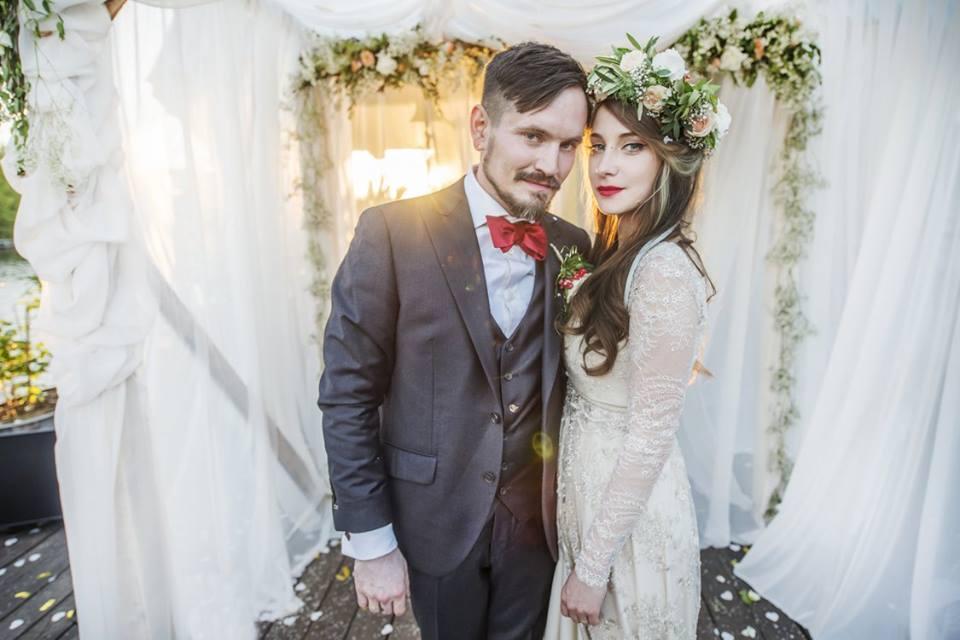 Červnová svatba na lodi - Pěkná kytka_svatební kytice