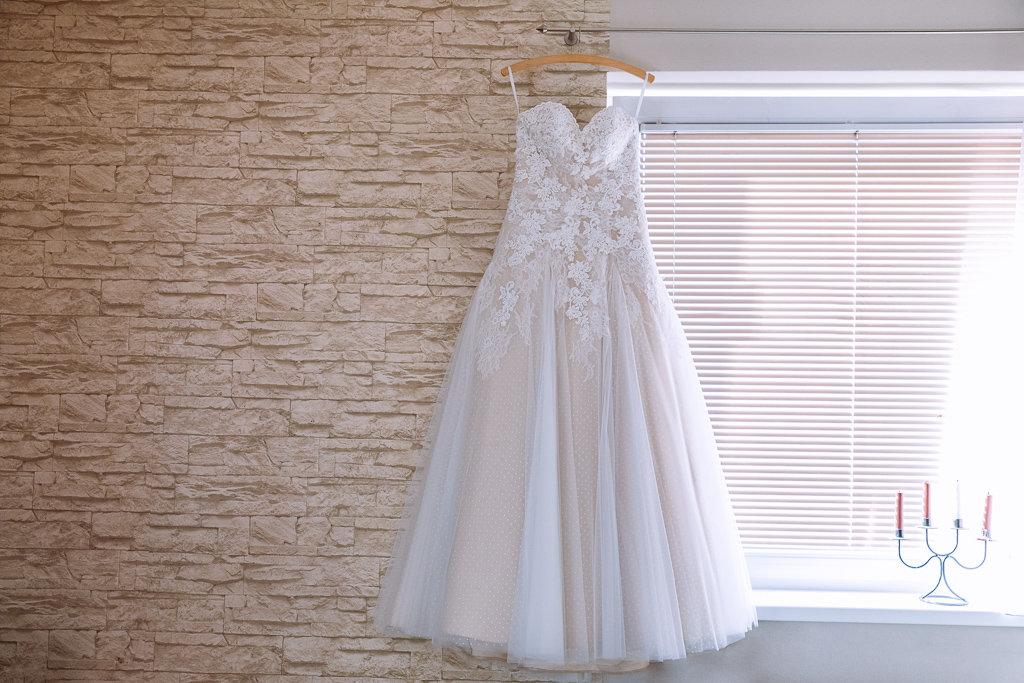 Princeznovské krajkové šaty champagne - Obrázek č. 3