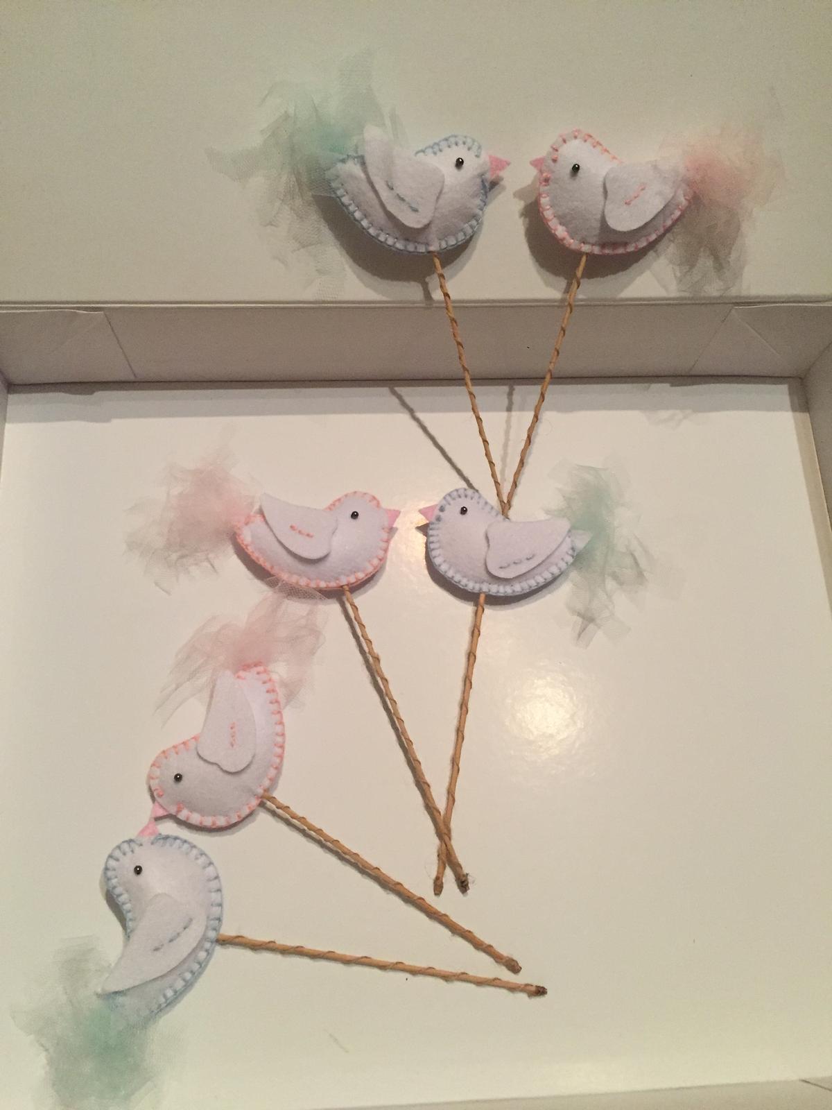 Vtáčiky ako ozdoba alebo ako darček pre deti - Obrázok č. 1