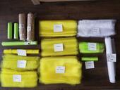 Žluté, zelené organzy, juta,