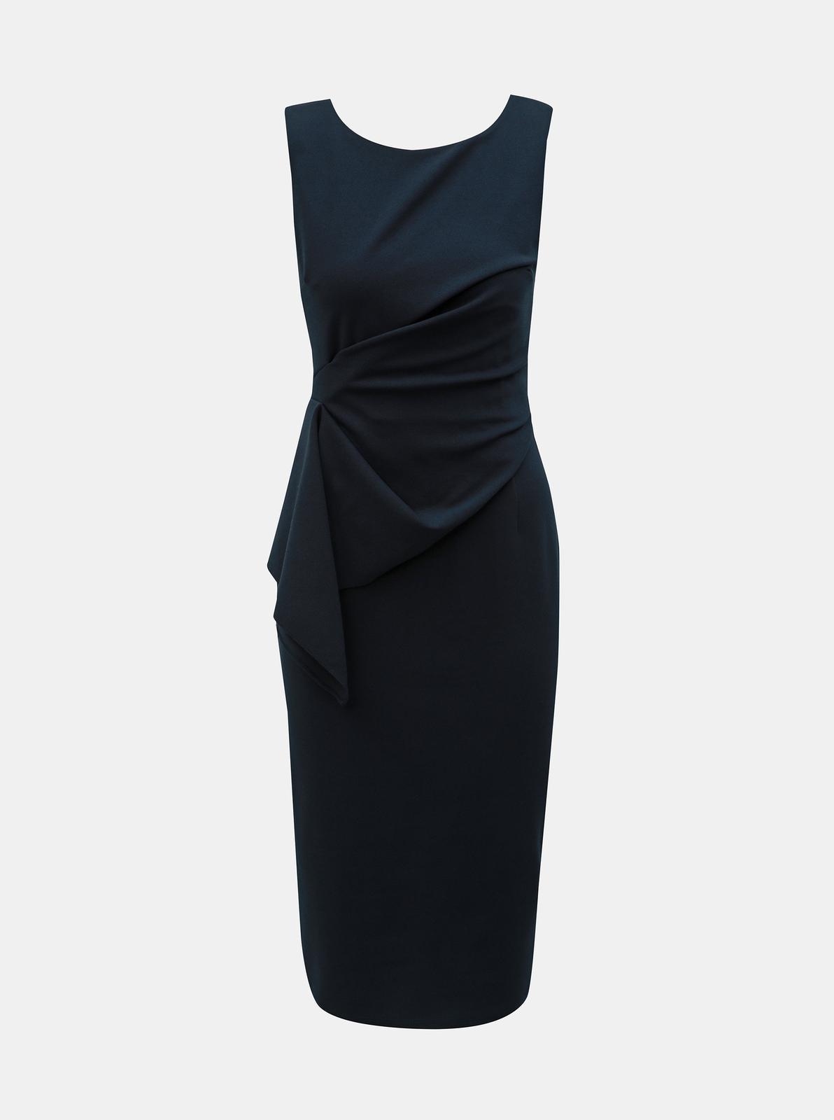 Tmavo modré puzdrové šaty Dorothy Perkins - 36 - Obrázok č. 1