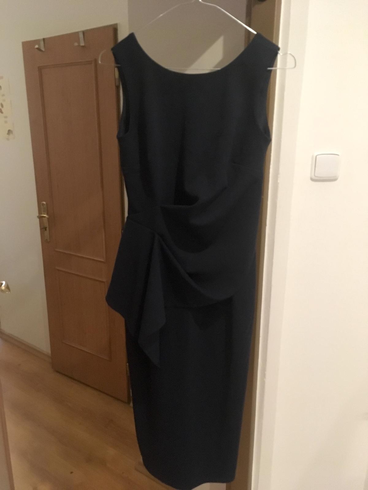 Tmavo modré puzdrové šaty Dorothy Perkins - 36 - Obrázok č. 4