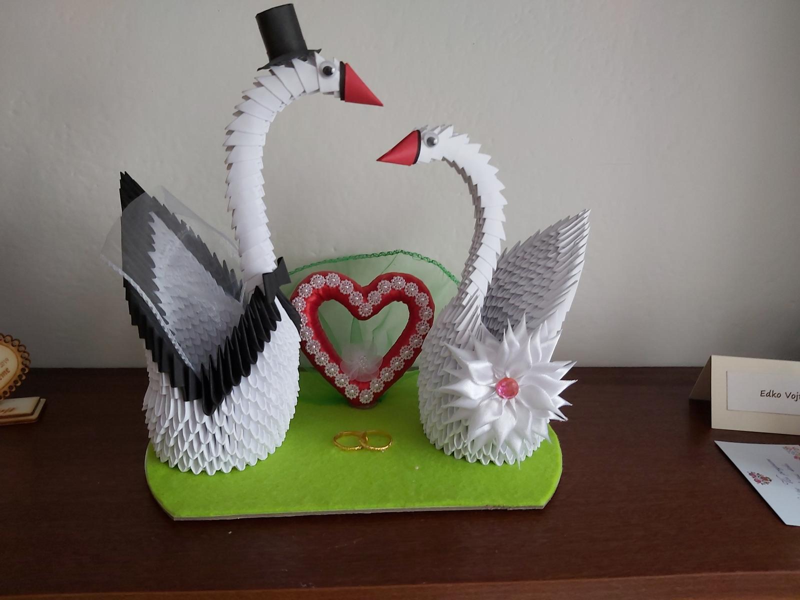 3D origami labute - Obrázok č. 1