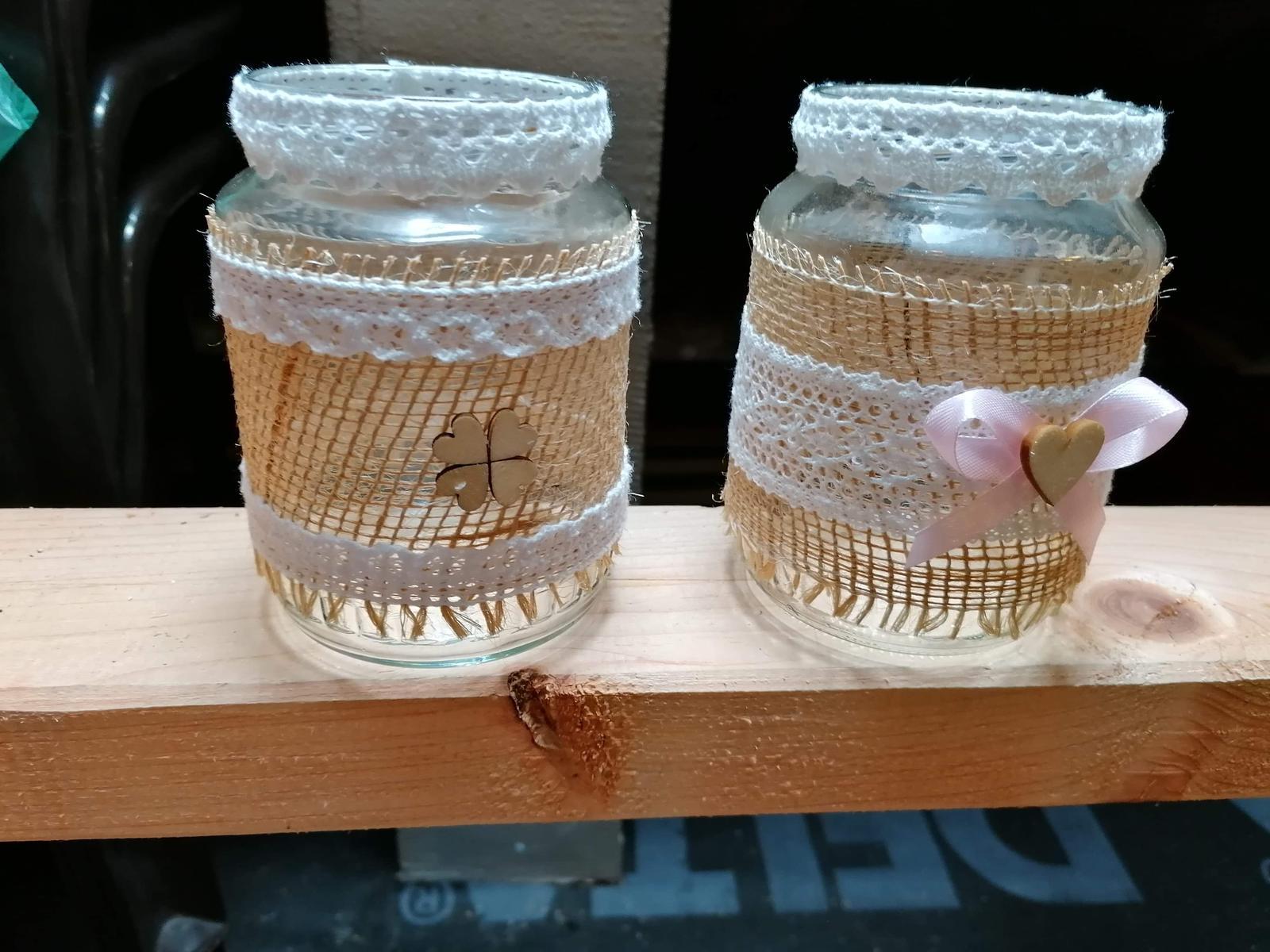 Vázy ze zavařovaček - Obrázek č. 1