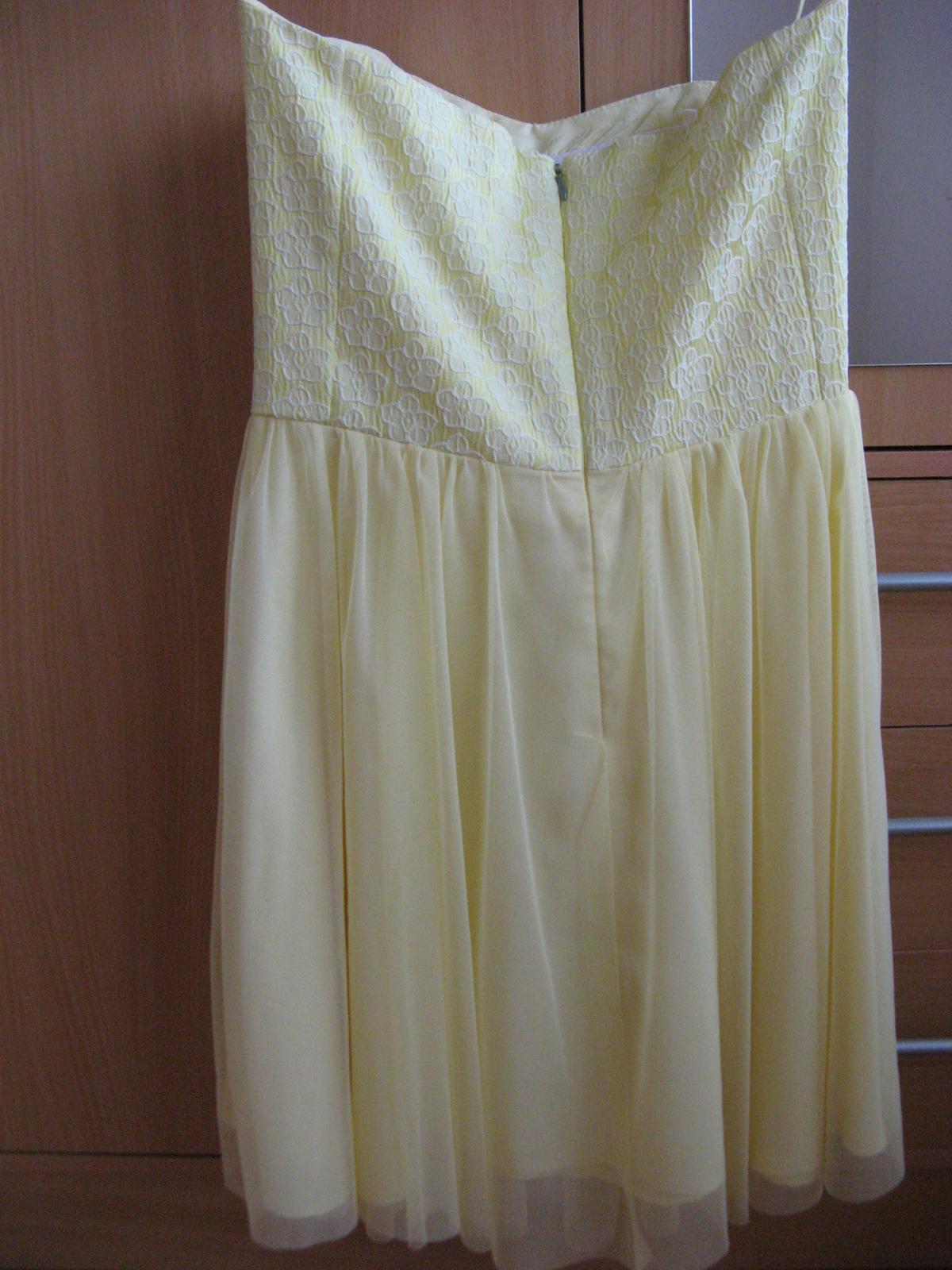 Krátke spoločenské šaty žlté - Obrázok č. 3